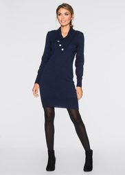 Вязаное платье (темно-синий) Bonprix