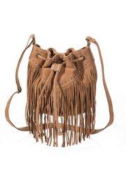 Кожаная сумка с бахромой (бронзовый) Bonprix