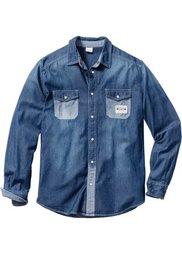 Джинсовая рубашка Regular Fit (светло-серый) Bonprix