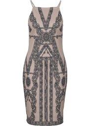 Платье в кружевном дизайне (синий) Bonprix