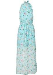 Макси-платье с цветочным принтом (розовый с рисунком) Bonprix