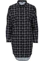 Удлиненная блузка (белый/черный в клетку) Bonprix