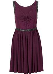 Платье с заклепками (черный) Bonprix