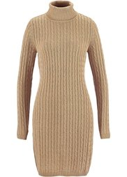 Вязаное платье ПРЕМИУМ (антрацитовый меланж) Bonprix