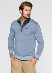 Пуловер Regular Fit с V-образным вырезом (нежно-голубой меланж) Bonprix