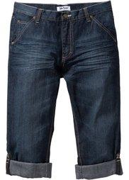 Закатывающиеся джинсы Regular Fit Straight, cредний рост (N) (голубой «потертый») Bonprix