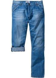 Закатывающиеся джинсы Regular Fit Straight, cредний рост (N) (темно-синий «потертый») Bonprix