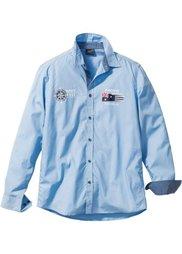 Рубашка Regular Fit с длинным рукавом (темно-синий) Bonprix