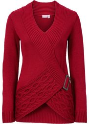 Вязаный пуловер (кремовый) Bonprix