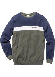 Пуловер Regular Fit (красный) Bonprix