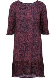 Платье (черный/цвет белой шерсти с при) Bonprix