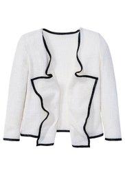 Кардиган, Размеры  116/122-164/170 (розовый/меланж цвета белой шер) Bonprix