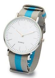 Часы на текстильном ремешке (черный/белый) Bonprix