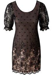 Платье (бордовый/черный) Bonprix