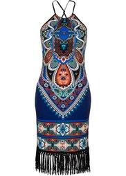 Платье с бахромой (красный) Bonprix