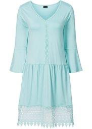 Платье-бохо с аппликацией (ночная синь) Bonprix