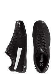 Кожаные кроссовки (черный/серый) Bonprix