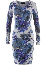 Вязаное платье (нежно-розовый/свекольный в цве) Bonprix