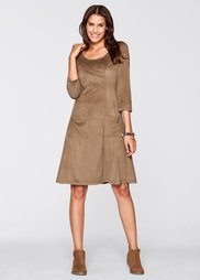 Платье из мягкого трикотажа-стретч (верблюжий) Bonprix