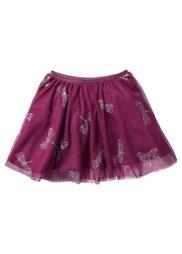 Тюлевая юбка с блестящим принтом, Размеры  80/86-128/134 (серо-синий с рисунком) Bonprix
