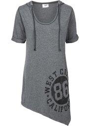 Удлиненная футболка (меланжевый розовый неон) Bonprix