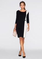 Платье (черный/экрю) Bonprix