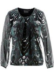Блуза-туника (ягодный/черный с принтом) Bonprix