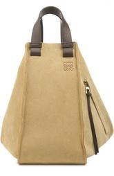 Замшевая сумка с кожаной отделкой Loewe
