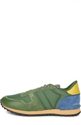Кроссовки color block с кожаными вставками Valentino