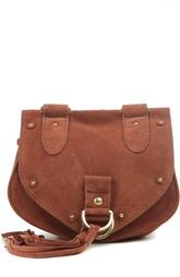Замшевая сумка-седло с кистями Collins See by Chloé