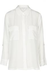 Прямая шелковая блуза с нашивными карманами Gerard Darel