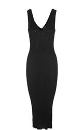 Вязаное платье-футляр с V-образным вырезом James Perse