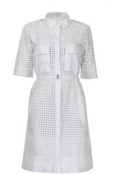 Перфорированное платье-рубашка с поясом Gerard Darel