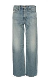 Прямые джинсы с потертостями Simon Miller