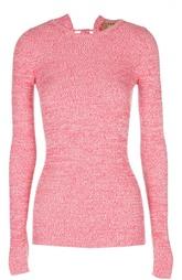 Облегающий вязаный пуловер со шнуровкой No. 21