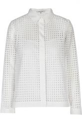 Перфорированная блуза прямого кроя Gerard Darel