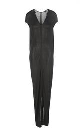 Шелковое асимметричное платье-макси Rick Owens
