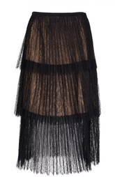 Многоярусная кружевная юбка-миди Michael Kors