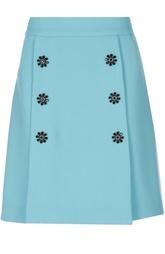 Мини-юбка А-силуэта с декоративными пуговицами Dolce & Gabbana