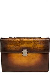 Кожаный портфель с ручным нанесением патинирования Berluti Bags