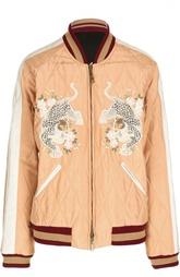 Куртка-бомбер на молнии с вышивкой Chloé