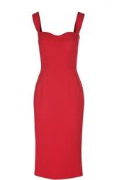 Платье-футляр на бретельках с разрезом Dolce & Gabbana