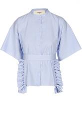 Блуза в полоску с поясом и бахромой Ports 1961