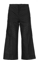 Перфорированные укороченные брюки REDVALENTINO
