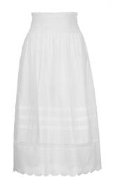 Хлопковая юбка-миди с эластичным поясом REDVALENTINO