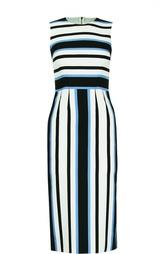 Приталенное платье без рукавов в полоску Dolce & Gabbana