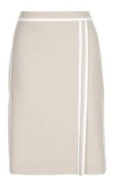 Юбка-миди с контрастной отделкой HUGO BOSS Black Label