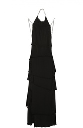 Многоярусное платье в пол с декоративными цепями Sonia Rykiel