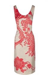Приталенное платье с ярким принтом и круглым вырезом Dries Van Noten