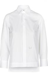Блуза с удлиненной спинкой и декоративным элементом Dsquared2